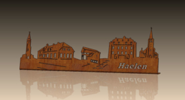 Skyline-Haelen met tekst 509 x 157mm