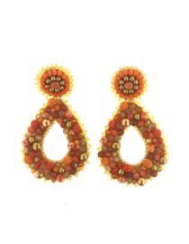 Orange Drop Beads - Paulie Pocket