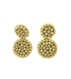 Beads Beige Earrings - Paulie Pocket