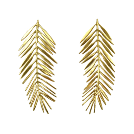 Urban Chic feather stud gold plating - Fien