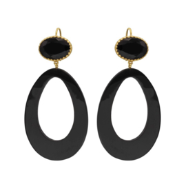 De Gooische oorbel - Fien en Pauline oorbellen -  Black buffalo