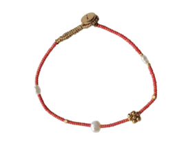 Armband fijn rood - Ibu