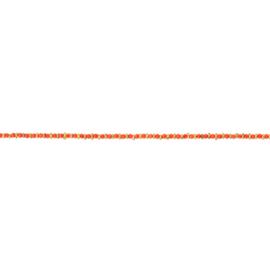 Armband steentjes oranje goud - Une a Une