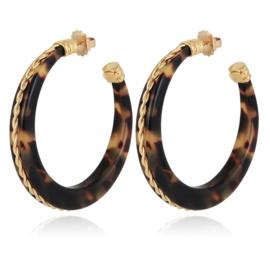 Gas Bijoux Caftan Torsade hoop earrings