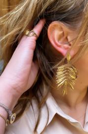 Urban Chic feather leaf stud gold plating - Fien