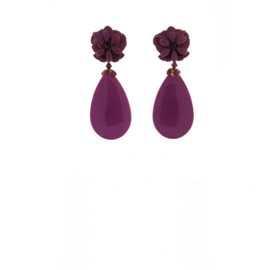 Oorbel flower drop purple - Imitch Exclusive