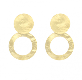 Lott oorbellen - Round hammerd earrings