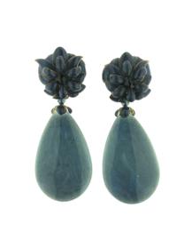 Oorbel flower drop blue - Imitch Exclusive