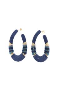 Creool groot ovaal blauw - Barong Barong