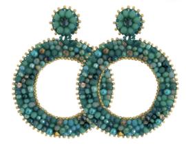 Sea Green Round Beads - Paulie Pocket