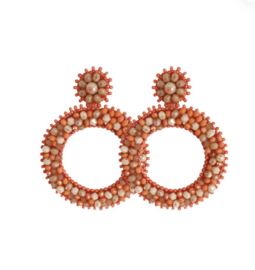 Orange Round Beads - Paulie Pocket