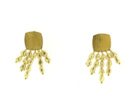 Oorbel parels goud mat - Imitch