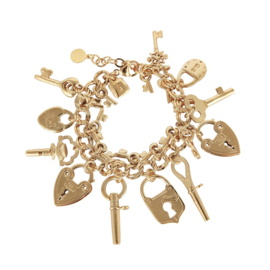 Gas Bijoux Charming Key bracelet gold