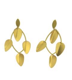 Oorbel leafs goud mat - Imitch