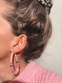 Creool groot ovaal roze - Barong Barong