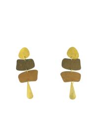 Oorbel extravaganza klein gekleurd mat - Imitch