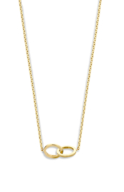 Iconic double open circle necklace - Just Franky