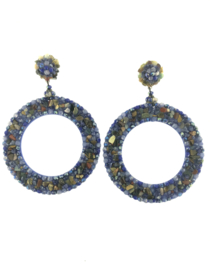 Oorbel blue beads - Imitch Exclusive