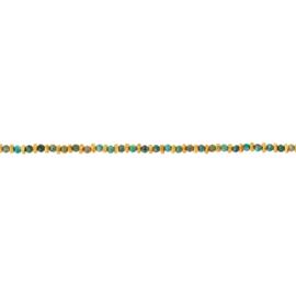 Armband steentjes groen mix goud - Une a Une