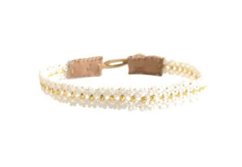Armband wit goud mix - Ibu