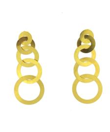 Oorbel chain goud mat - Imitch