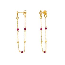 Oorbel roze goud - Une a Une