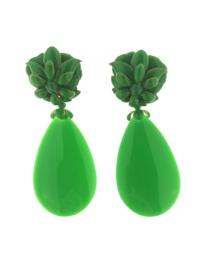 Oorbel flower drop green - Imitch Exclusive