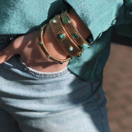 Gas Bijoux. Strada Serti bracelet gold L