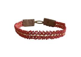 Armband rood goud mix - Ibu