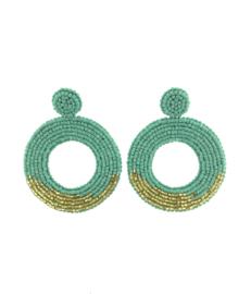 Turquoise Gold Earrings - Paulie Pocket