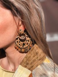 GAS Bijoux statement earrings gold black