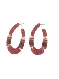 Creool groot ovaal rood - Barong Barong