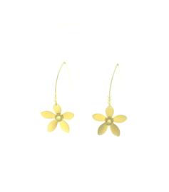 Oorbel haak bloem goud - One O'Clock