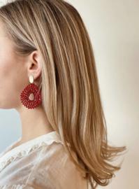 Alice silk drop crystal red - LOTT. Gioielli