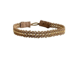 Armband beige goud mix - Ibu