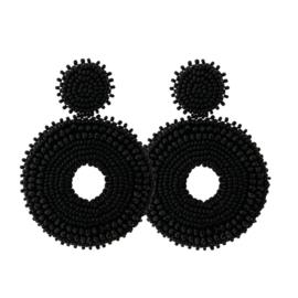 Big Black Earrings