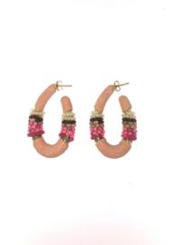 Creool klein ovaal roze - Barong Barong