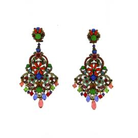 Oorbel swarovski multicolor-Imitch Exclusive