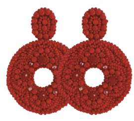 Big Red Earrings - Paulie Pocket