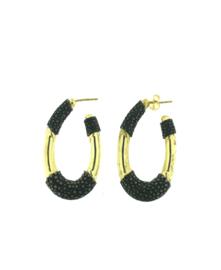 Creool klein ovaal zwart goud - Barong Barong