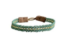 Armband groen goud mix - Ibu