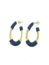 Creool klein ovaal blauw goud - Barong Barong