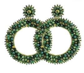Green Round Beads - Paulie Pocket