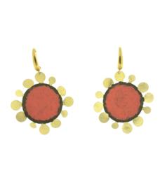 Oorbel bloem koraal goud mat - Imitch
