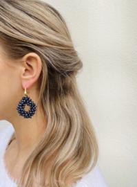 Earring ace glassberry metallic blue - LOTT. Gioielli