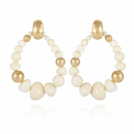 Gas Bijoux Biba Bis earrings White