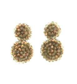 Brown Beads Earrings - Paulie Pocket