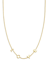 Love necklace gold - Just Franky