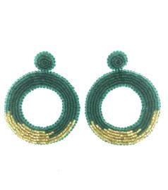 Green Gold Earrings - Paulie Pocket