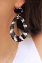 Urban Chic natural zebra black stone earhook gold plating - Fien